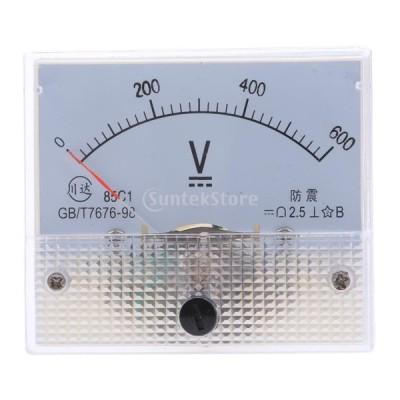 高品質 85C1 DC アナログパネル 電圧計 全14種 アナログ電流計 交換性 - 0-600V