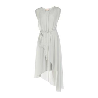 エリカ カヴァリーニ ERIKA CAVALLINI 7分丈ワンピース・ドレス ライトグレー 40 ポリエステル 100% 7分丈ワンピース・ドレス