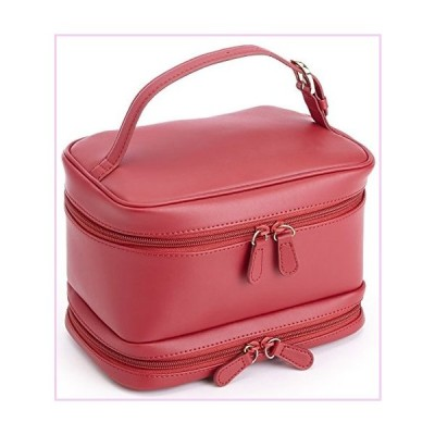 Royce Leather Travel Cosmetic Makeup Bag, Red, One Size■並行輸入品■