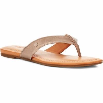 アグ UGG レディース ビーチサンダル シューズ・靴 Tuolumne Flip Flop Light Bronze Leather
