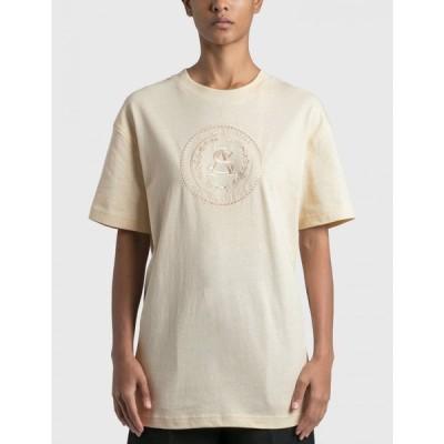 アクネ ストゥディオズ Acne Studios レディース Tシャツ トップス elice embroidered t-shirt Coconut White