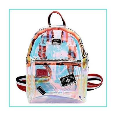 【新品】Monique Girls Women Mini Glitter Holographic Clear Jelly Backpack Small Casual Daypack Convertible Shoulder Bag Cross-body Bag Handbag(