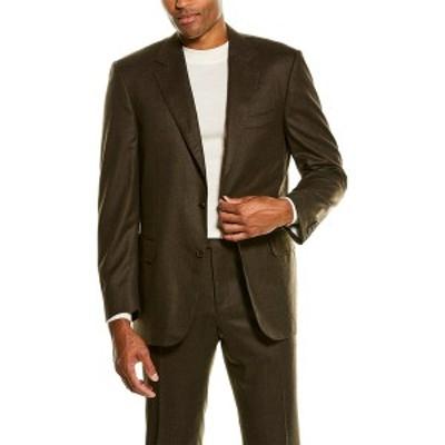 カナーリ メンズ コート アウター Canali 2pc Wool Suit brown