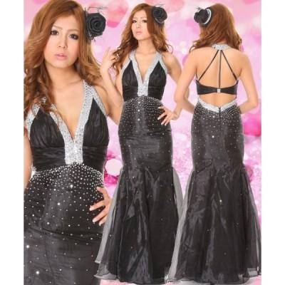 Dress Angelo ドレス キャバ ドレスキャバ ナイトドレス パーティードレス雑誌BETTY掲載 マーメイドラインゴージャス黒ロングドレス 91