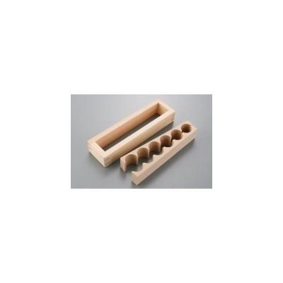 星野工業 JK 押し寿司器 幕の内 6ツ取 3.8x24x6cm スプルース 260g