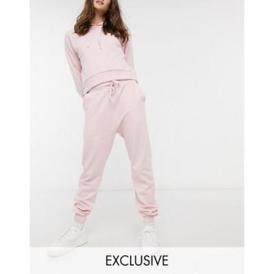 ウェンズデーガール レディース カジュアルパンツ ボトムス Wednesday's Girl relaxed sweatpants with heart embroidered