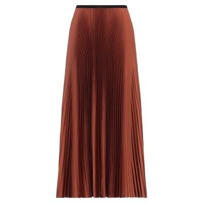 RUE DU BAC ロングスカート 赤茶色 38 ポリエステル 95% / ポリウレタン 5% ロングスカート