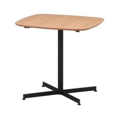 カフェテーブル/サイドテーブル 〔75×75cm ナチュラル〕 スチール アジャスター付き 『レグナ』 〔リビング ダイニング 店舗〕