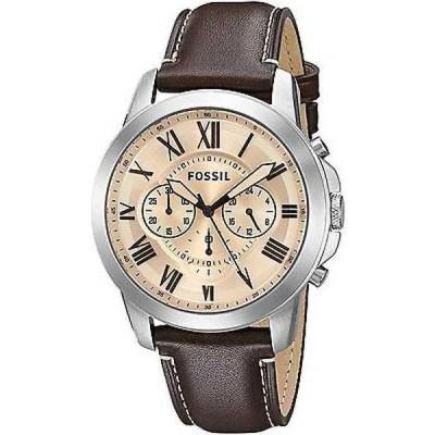腕時計 フォッシル Fossil メンズ FS5152 'Grant' クロノグラフ ブラウン レザー 腕時計