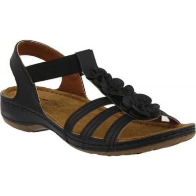 スプリングステップ Flexus by Spring Step レディース サンダル・ミュール シューズ・靴 Adede Slingback Sandal Black Synthetic