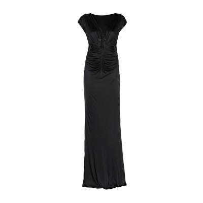 ロベルト カヴァリ ROBERTO CAVALLI ロングワンピース&ドレス ブラック 40 レーヨン 100% ロングワンピース&ドレス