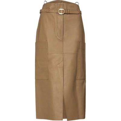 ペーター ペトロフ Petar Petrov レディース ひざ丈スカート ペンシルスカート スカート Randy B leather pencil skirt Safari