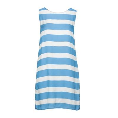 マニラ グレース MANILA GRACE ミニワンピース&ドレス アジュールブルー 38 レーヨン 100% ミニワンピース&ドレス