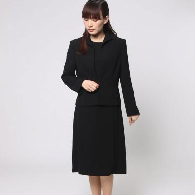 ソリテール SORITEAL サテンテープのアンサンブル (ブラック) [ブラックフォーマル 喪服 礼服]大きいサイズ21号