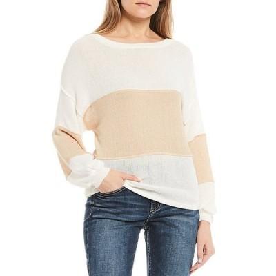 ブルーペッペーブルーペッパー レディース Tシャツ トップス Long-Sleeve Color-Block Knit Top