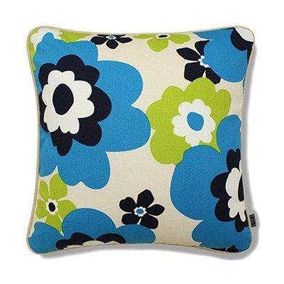 アウトスタイル クッションカバー 45x45cm 日本製 綿プリント 北欧 マリメッコ調 花柄 マリン ブルー