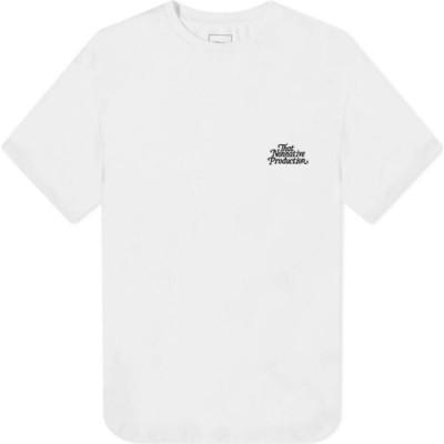 ノンネイティブ Nonnative メンズ Tシャツ ロゴTシャツ トップス tnp logo tee White