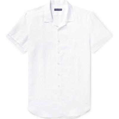 トム スウィーニー THOM SWEENEY メンズ シャツ トップス linen shirt White