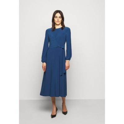 ラルフローレン ワンピース レディース トップス MID WEIGHT DRESS - Jersey dress - dark cerulean
