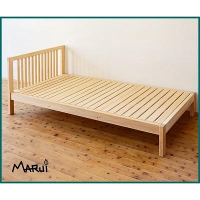 ひのきマットレス用シングルベッド 2040・2140 国産桧無垢 天然木製 ベッドフレーム ヒノキすのこ 日本製 送料無料