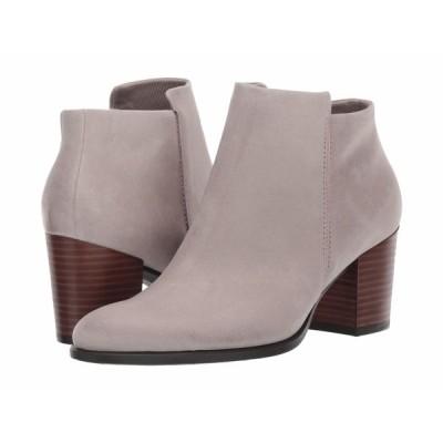 エコー ブーツ&レインブーツ シューズ レディース Shape 55 Stacked Heel Ankle Boot Moon Rock Nubuck Leather