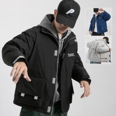 ダウンコート 秋冬 メンズジャケット ゆったり アウター ショート丈 男性用 中綿入り カジュアル 通勤 通学 中綿ジャケット