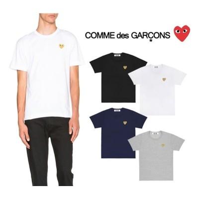コムデギャルソン プレイ COMME des GARCONS PLAY メンズトップス ゴールドハート 半袖 Tシャツ GOLD HEART LOGO TSHIRT