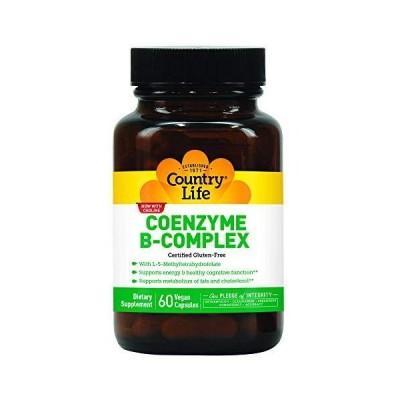 海外直送品 Country Life Coenzyme B-Complex Vegetarian, 60 Caps