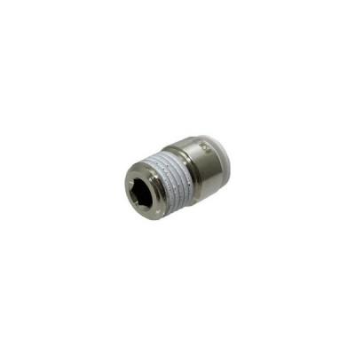 千代田通商 タッチコネクターファイブ 六角穴付メイルコネクター W(白)8mm・R1/4 F8−02MSW 1個 (お取寄せ品)