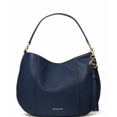 マイケルコース レディース ショルダーバッグ バッグ Brooke Large Zip Hobo Shoulder Bag Navy
