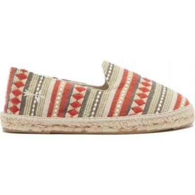 マネビ Maneb? メンズ エスパドリーユ シューズ・靴 Marrakesh stripe-jacquard espadrilles Red