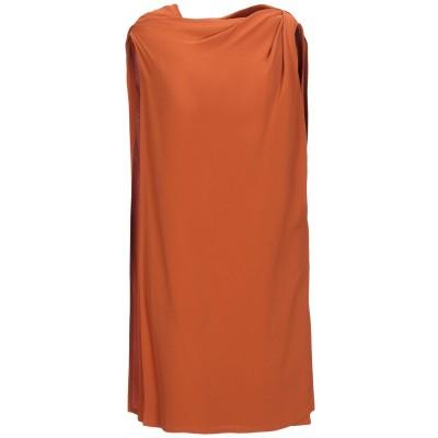 リック オウエンス RICK OWENS ミニワンピース&ドレス オレンジ 40 シルク 100% ミニワンピース&ドレス