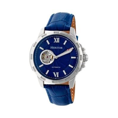 ヘリター Heritor ユニセックス 腕時計 Automatic Bonavento Silver & Blue Leather Watches 44mm Blue