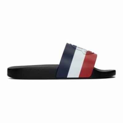 モンクレール Moncler メンズ サンダル シューズ・靴 Black Basile Slides