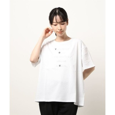 tシャツ Tシャツ 強撚コットンエンボスプリントTシャツ