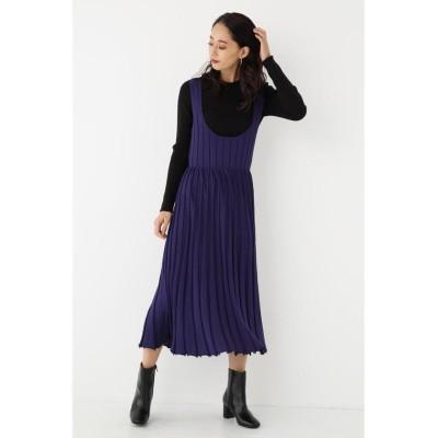 【シェルターセレクト】 プリーツニットワンピース(Pleats Knit Dress)/ドレス レディース NVY FREE SHEL'TTER SELECT