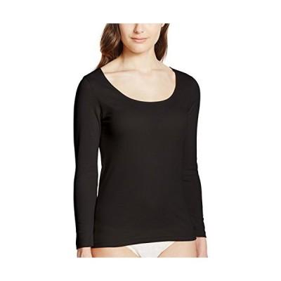 [グンゼ] インナーシャツ CFA さわやか綿100% 長袖 日本製 CB3246 レディース スミクロ 日本LL (日本サイズ2L相当)