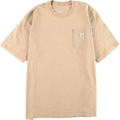 カーハート ワンポイントロゴポケットTシャツ XL /eaa050746