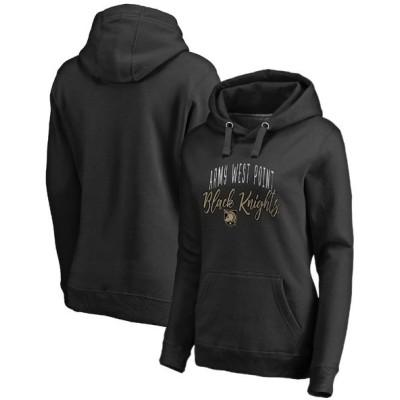 ファナティクス パーカー・スウェットシャツ アウター レディース Army Black Knights Fanatics Branded Women's Plus Size Graceful Pullover Hoodie Black