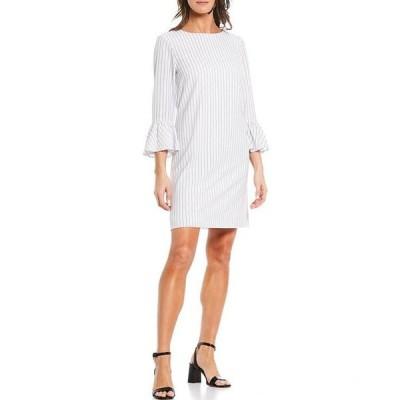 プレストンアンドヨーク レディース ワンピース トップス Renee Stripe Flutter Sleeve Dress