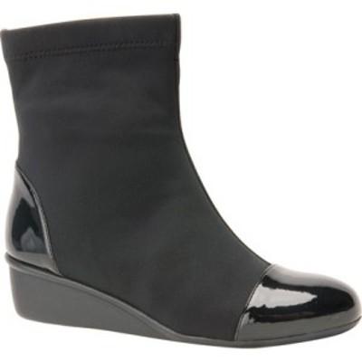 ロスホマーソン Ros Hommerson レディース ブーツ ショートブーツ ウェッジソール シューズ・靴 Easton Wedge Ankle Boot Black Stretch