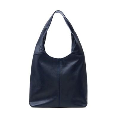 Handbag Bliss Navy Blue Italian Leather Soft Slouch Shoulder Bag Handbag 並行輸入品