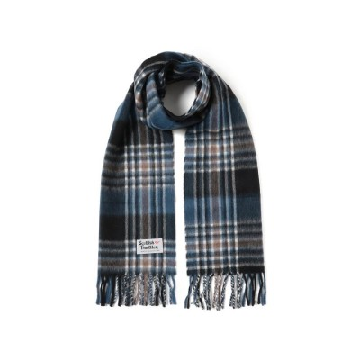 【ビームス メン】 SCOTTISH TRADITION / Woven Muffler メンズ DIM_BLUE_MOCHA ONESIZE BEAMS MEN