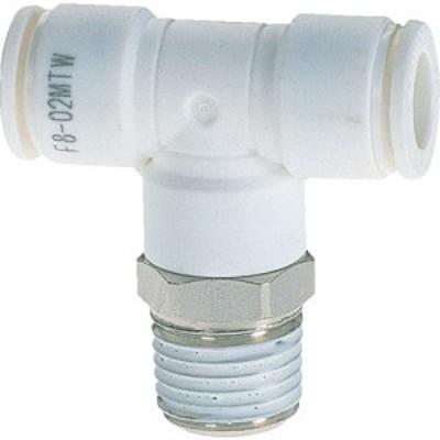 チヨダ ファイブメイルブランチティ W(白)4mm・R1/4 (1個) 品番:F4-02MTW