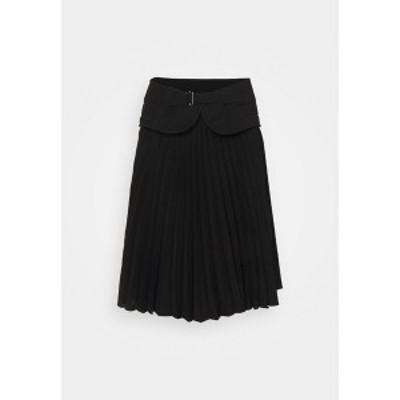 ニールバレット レディース スカート ボトムス SOLEIL PLEATED SKIRT WITH QUILTED BIKER BELT - Pleated skirt - black black
