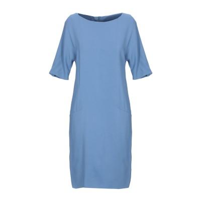 レ コパン LES COPAINS ミニワンピース&ドレス パステルブルー 46 ポリエステル 95% / ポリウレタン 5% ミニワンピース&ドレス