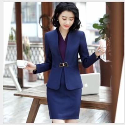 新品 上下セットスーツ ビジネススーツ フォーマルスーツ オフィススーツ 3点セット 事務服 通勤 ファション レディース