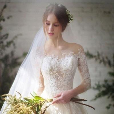 ウェディングドレスAライン結婚式二次会ホワイトドレス花嫁ウェディングプリンセスドレス白ドレストレーンドレス披露宴
