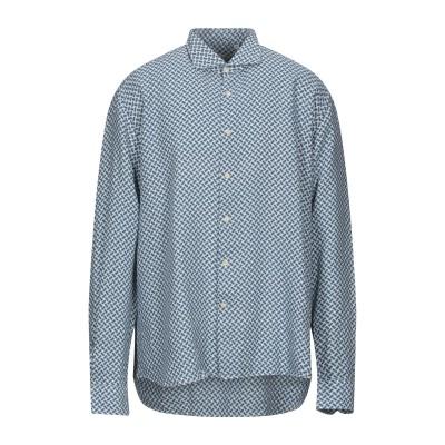 ドルモア DRUMOHR シャツ ブルーグレー XXL リネン 100% シャツ