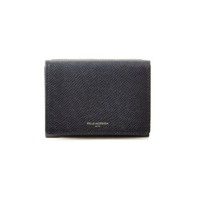 【カバンのセレクション】 ペッレモルビダ 財布 三つ折り財布 本革 キーケース ミニウォレット コンパクト メンズ PELLE MORBIDA pm-ba322 ユニセックス ネイビー フリー Bag&Luggage SELECTION